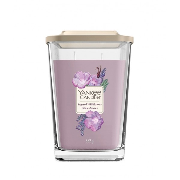 Yankee Candle Elevation Coll - duża kwadratowa świeca z dwoma knotami Sugared Wildflowers